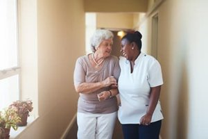 a woman enjoys MD senior assisted living