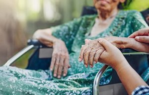a woman uses Senior Respite Care in MD